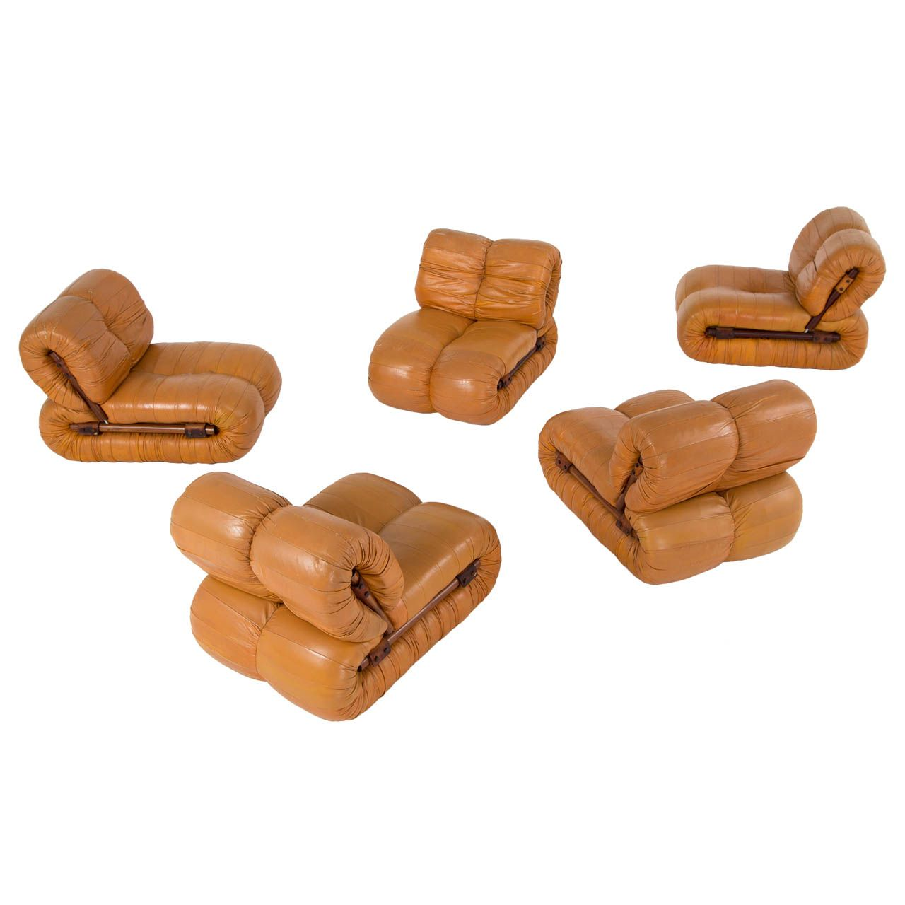 Rare Modular Seating Group By Percival Lafer Rosewood And