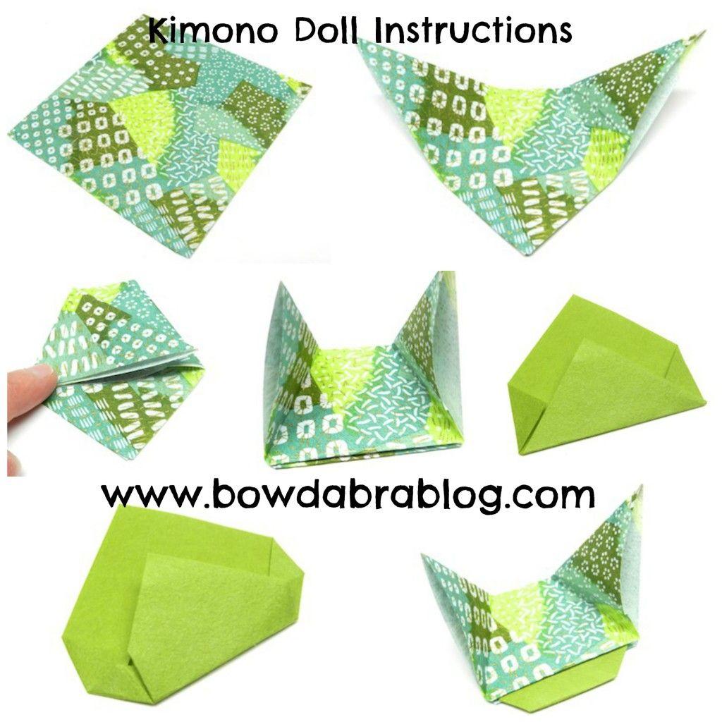 Paper Crafting Kimono Doll Origami with Mini Bowdabra Bow ... - photo#16
