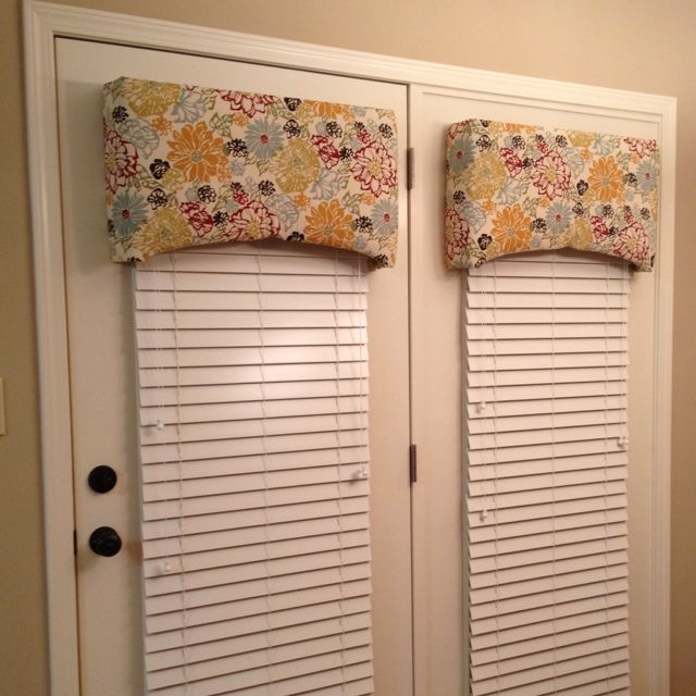 Homemade Custom Valances For 25 Both French Door Window Treatments French Door Decor Valance Window Treatments