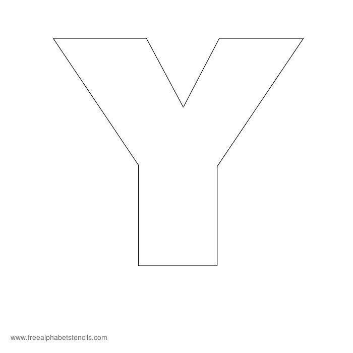 Headline Poster Alphabet Stencil Y