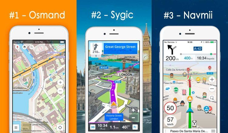 Navegador Gps Offline Osmand Sygic Navmii Sin Internet Gratis Android Iphone Iphone Android Internet