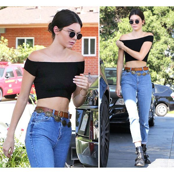 Kendall Jenner Knows Hows To Look Sexy In Mom Jeans ❤ liked on Polyvore featuring extra, people and pictures