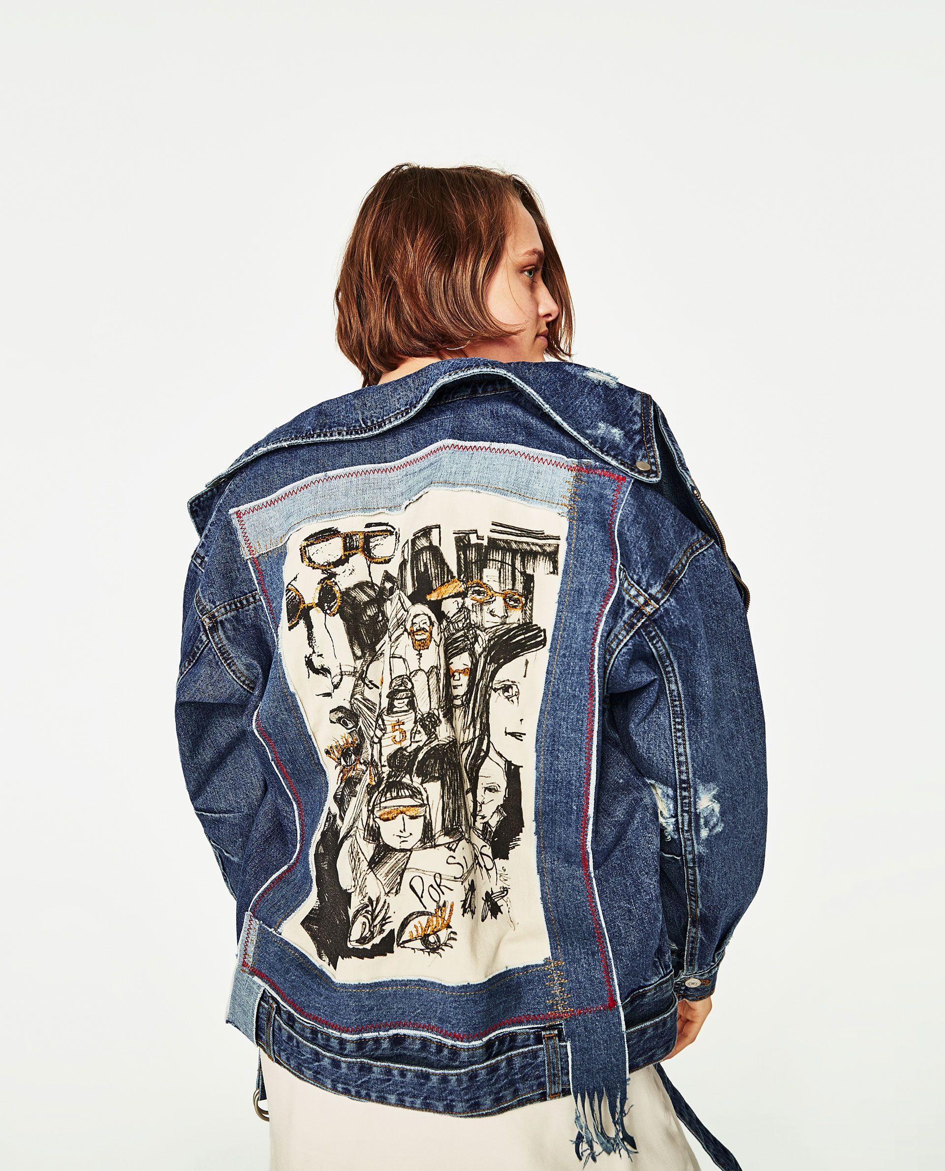Denim Jacket With Design [ 2379 x 1920 Pixel ]