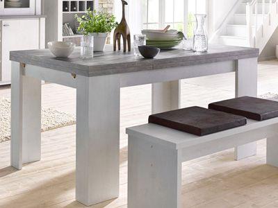 CONFORAMA TABLE u0027u0027GRANNYu0027u0027 - décor chêne et blanc - CHF 299- code