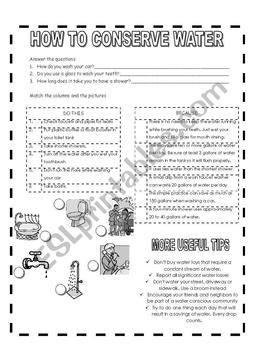 Pin On Water Importance of water worksheets