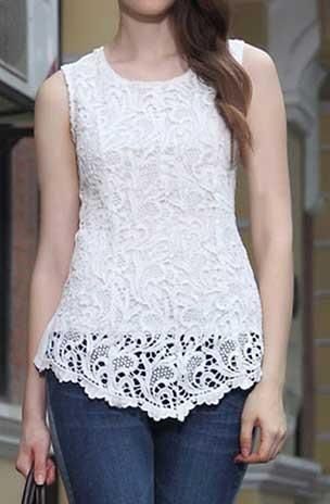 Cupshe Wanderer Lace Oversized Top