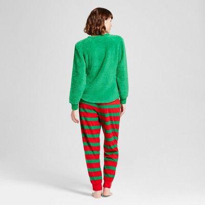 Women s Elf Pajama Gift Set - Green XS  8e7d9809d