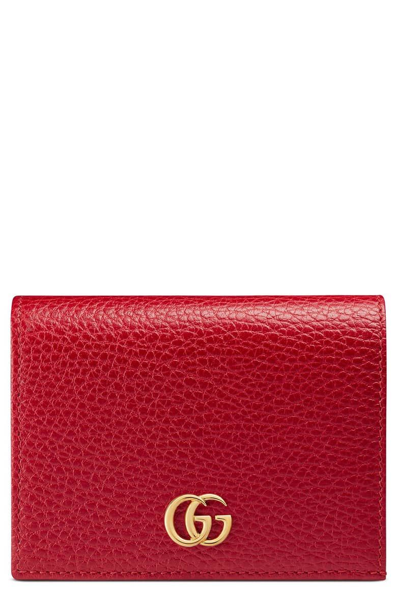 12295b666aa Petite Marmont Leather Card Case