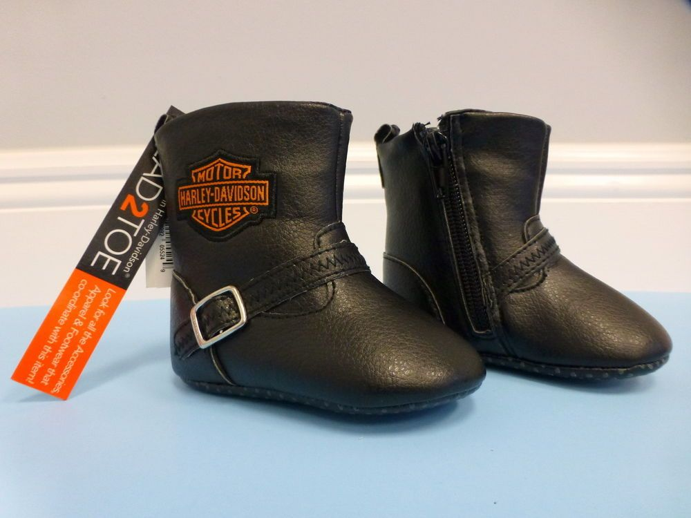 Harley-Davidson Baby Pre-Walker Boots Size 0/1M NEW | Jackson ...