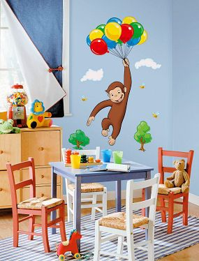 Large Curious George Wall Decals For A Kids Room Or Baby Nursery