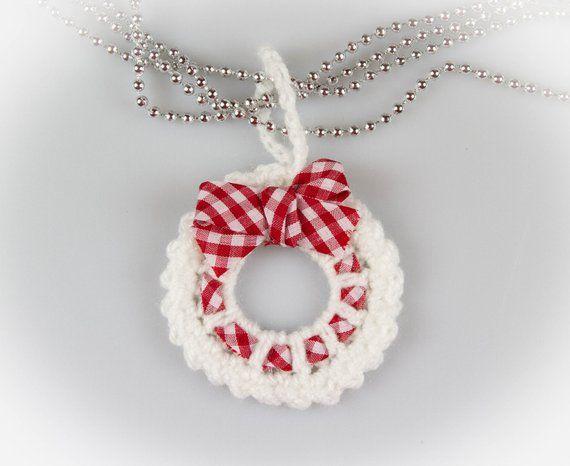 Photo of Christmas crochet wreath Crochet pattern Crochet wreath Brooch Christmas decorations Christmas decorations Mini wreath ornament PDF, P016