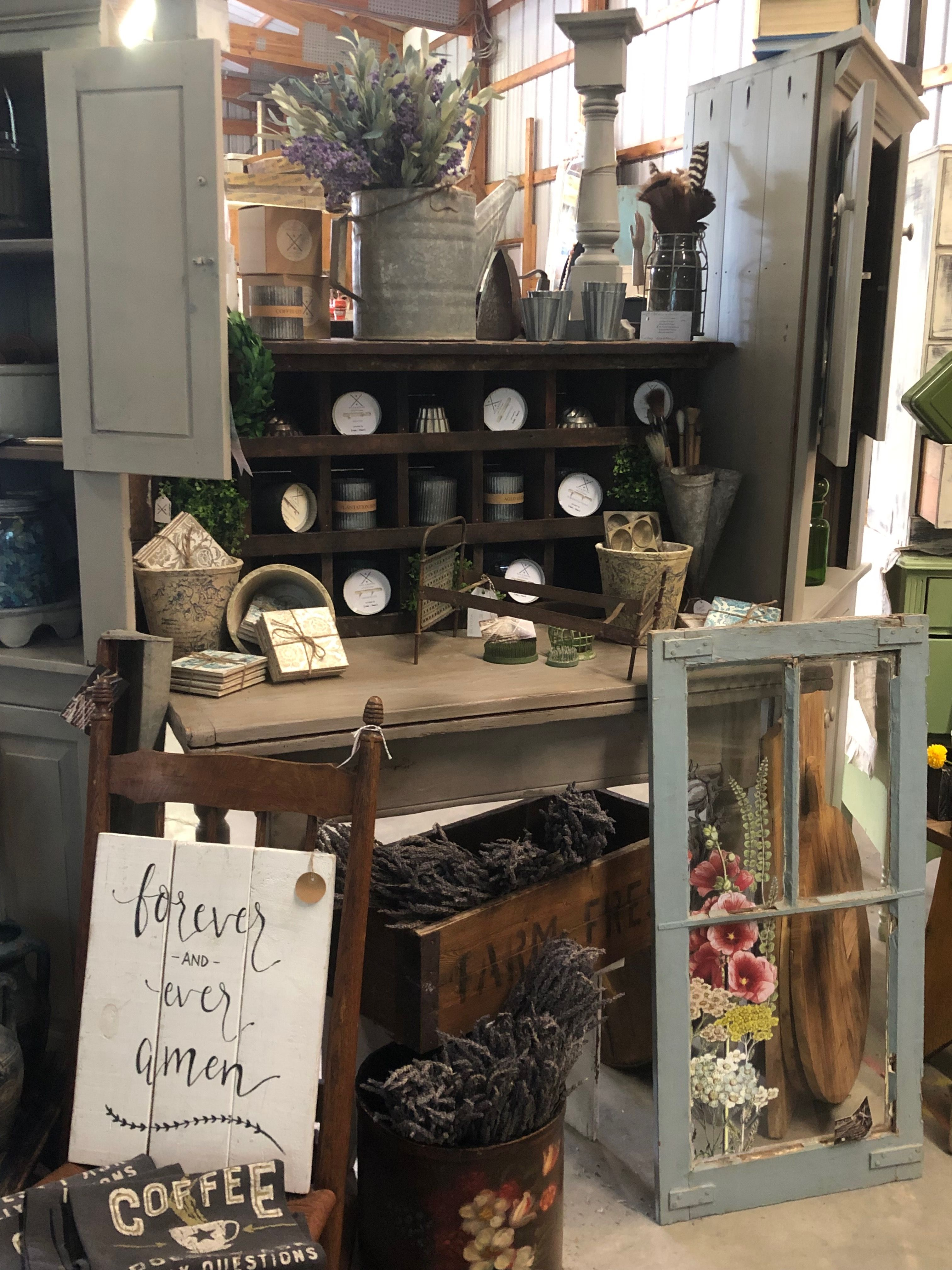 Rust And Refind Artisan Market Display At The Lucketts Spring