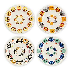 Disney Tsum Tsum Melamine Small Plates Set Of 4 Disney