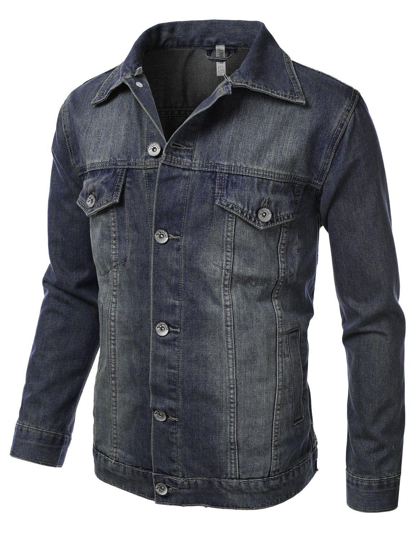 Men's Denim Jacket With Hoodie #doublju