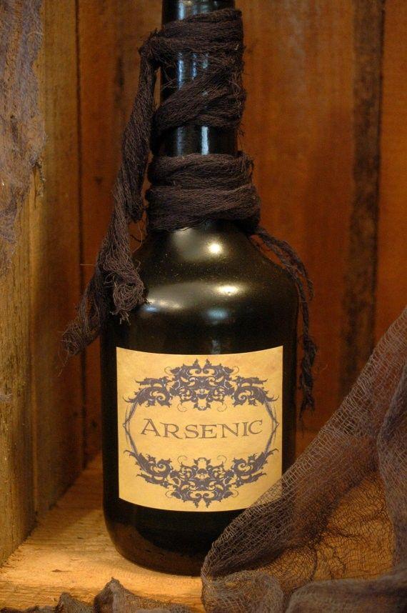 Halloween Decor Ideas Arsenic bottle for your Halloween decor #halloween #home #decor www.loveitsomuch.com