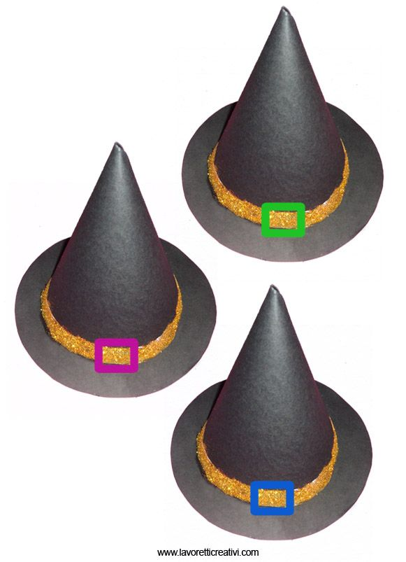 Addobbi Halloween Cappello da strega Halloween fai da te  39c566f31acf
