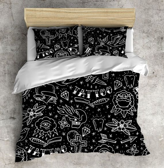 Attractive Rockabilly Bedding Tattoo Style Bedding Rockabilly By InkandRags