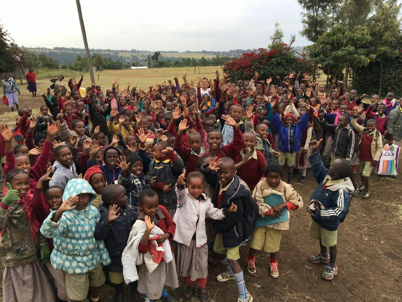 Volunteer work in Africa of David Bedoya