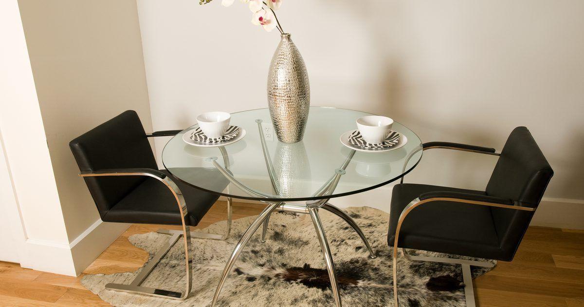 Cómo pintar una mesa de vidrio de comedor | Tips | Mesas de ...