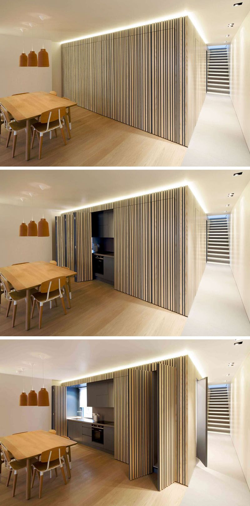 This Kitchen Can Be Completely Hidden When Not In Use Arch