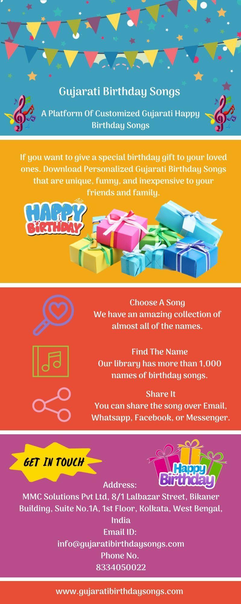 Gujarati Birthday Songs in 2020 Birthday songs, Happy