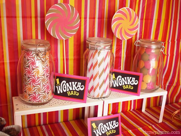 A Willy Wonka birthday party Love the invitations Different