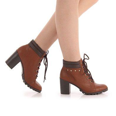 329ab4bc3e108 Bota Coturno Feminina Mississipi - Camel | shoes | Sapatos, Botas e ...