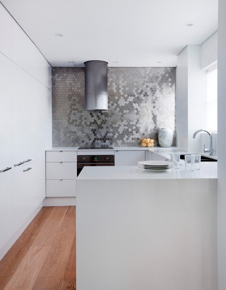Charming Stunning Kitchen Exhaust Fan That Shaped In Round Installed At Minimalist  Kitchen Nuanced In White