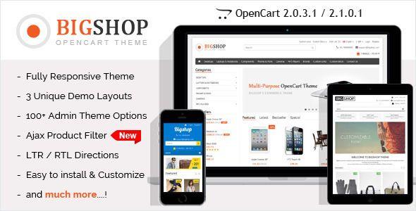 Download Free Bigshop - Multi-Purpose Responsive OpenCart