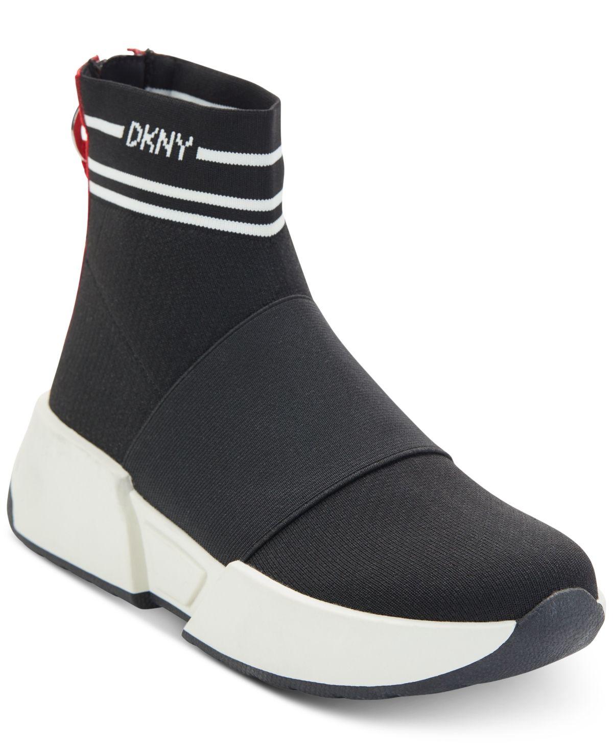Dkny Marini Sneakers, Created For Macy's White Black