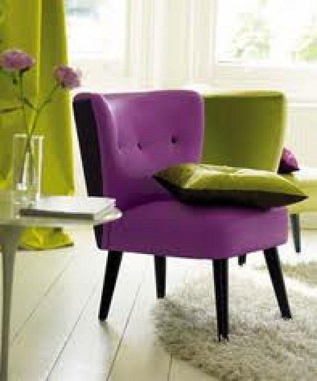 Idea sal n morado y gris decorar tu casa gris y sal n - Salon gris y morado ...