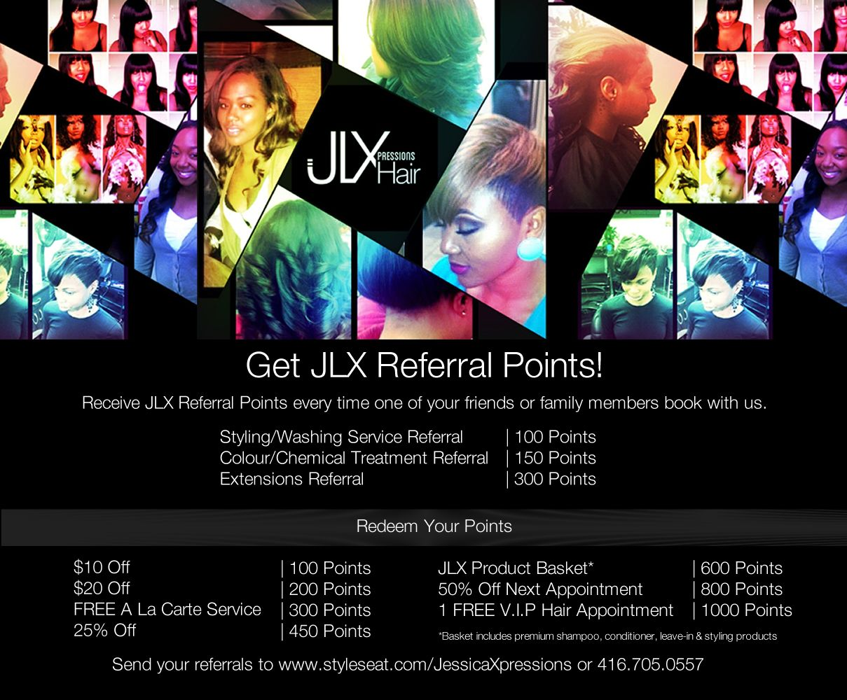 Get your JLX Referral Points!