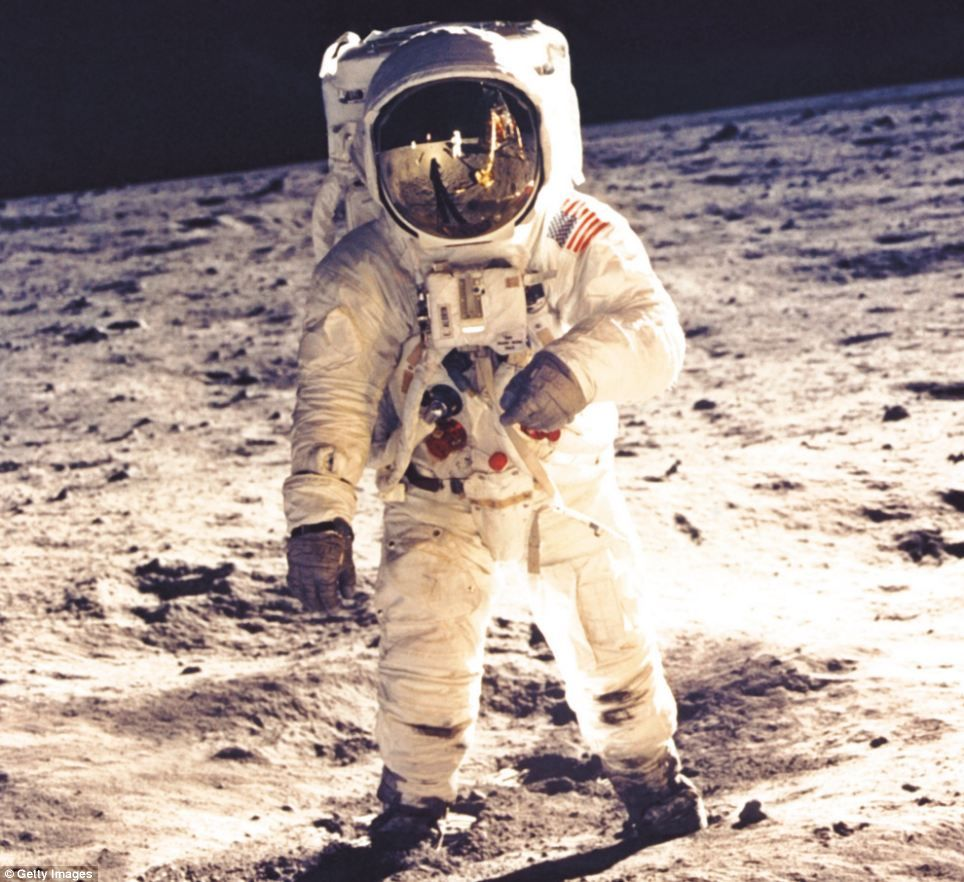 Walking on the moon: The image of Edwin 'Buzz' Aldrin standing on the lunar surface has become one of the world's most iconic images - used ...
