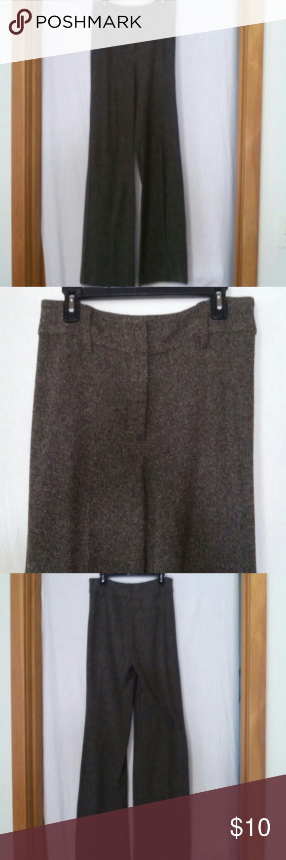 """J jill women size 8 career dress pants Polyester acrylic and rayon, black and white tweed, zipper with an inside metal closure and anchor button, right slit back pocket, waist 33"""", front rise 9"""", inseam 32"""", barely worn J jill Pants"""