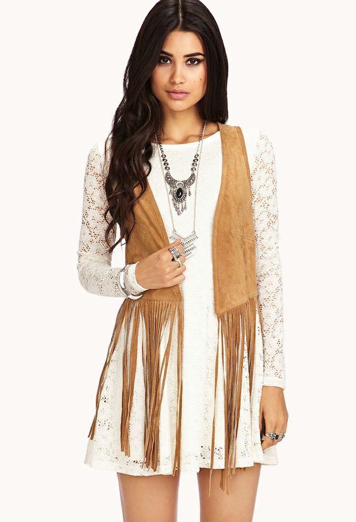 665a9a87f9c ▷ 1001 + looks parfaits d automne-hiver avec une tenue bohème chic ...
