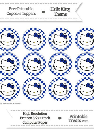 Free egyptian blue checker pattern hello kitty cupcake toppers free egyptian blue checker pattern hello kitty cupcake toppers maxwellsz