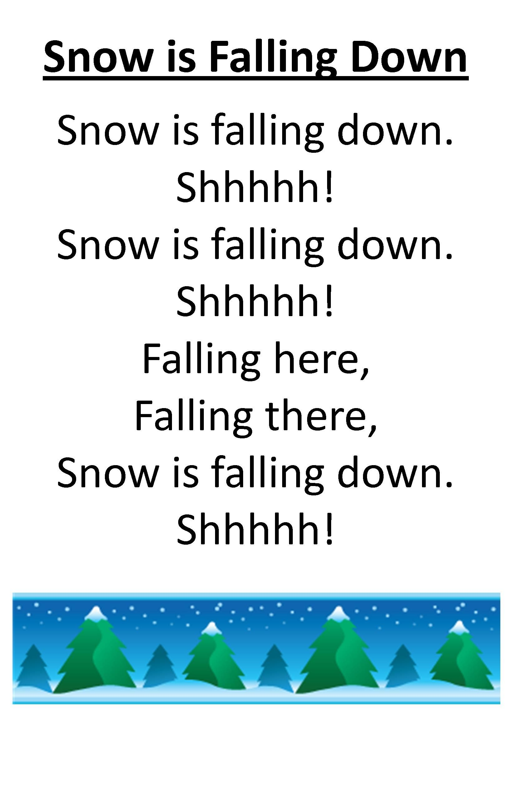 Itty Bitty Rhyme Snow Is Falling Down