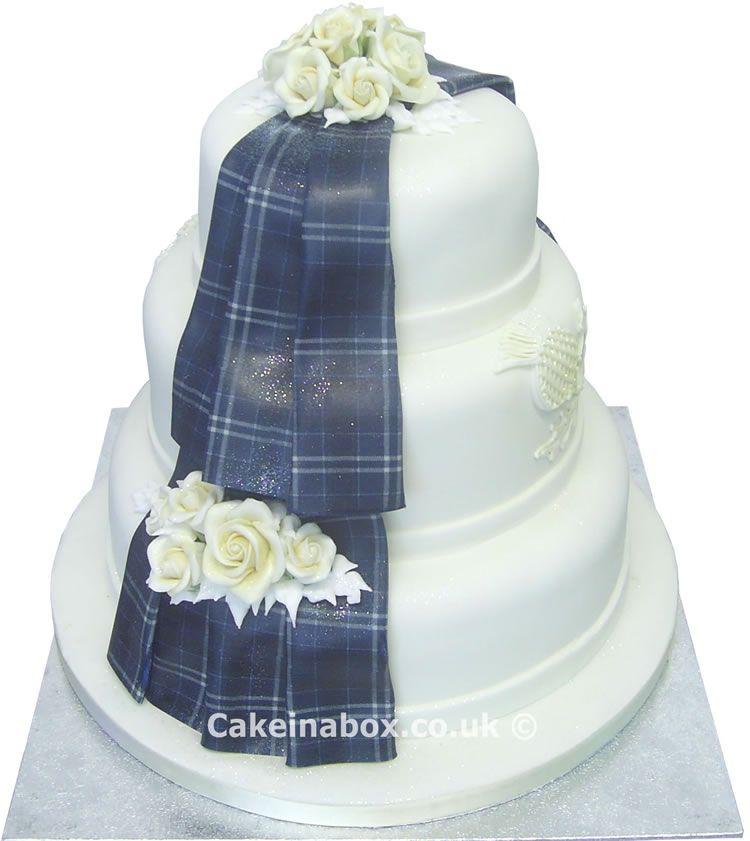 Cake in a box the tartan prestige wedding cake plain