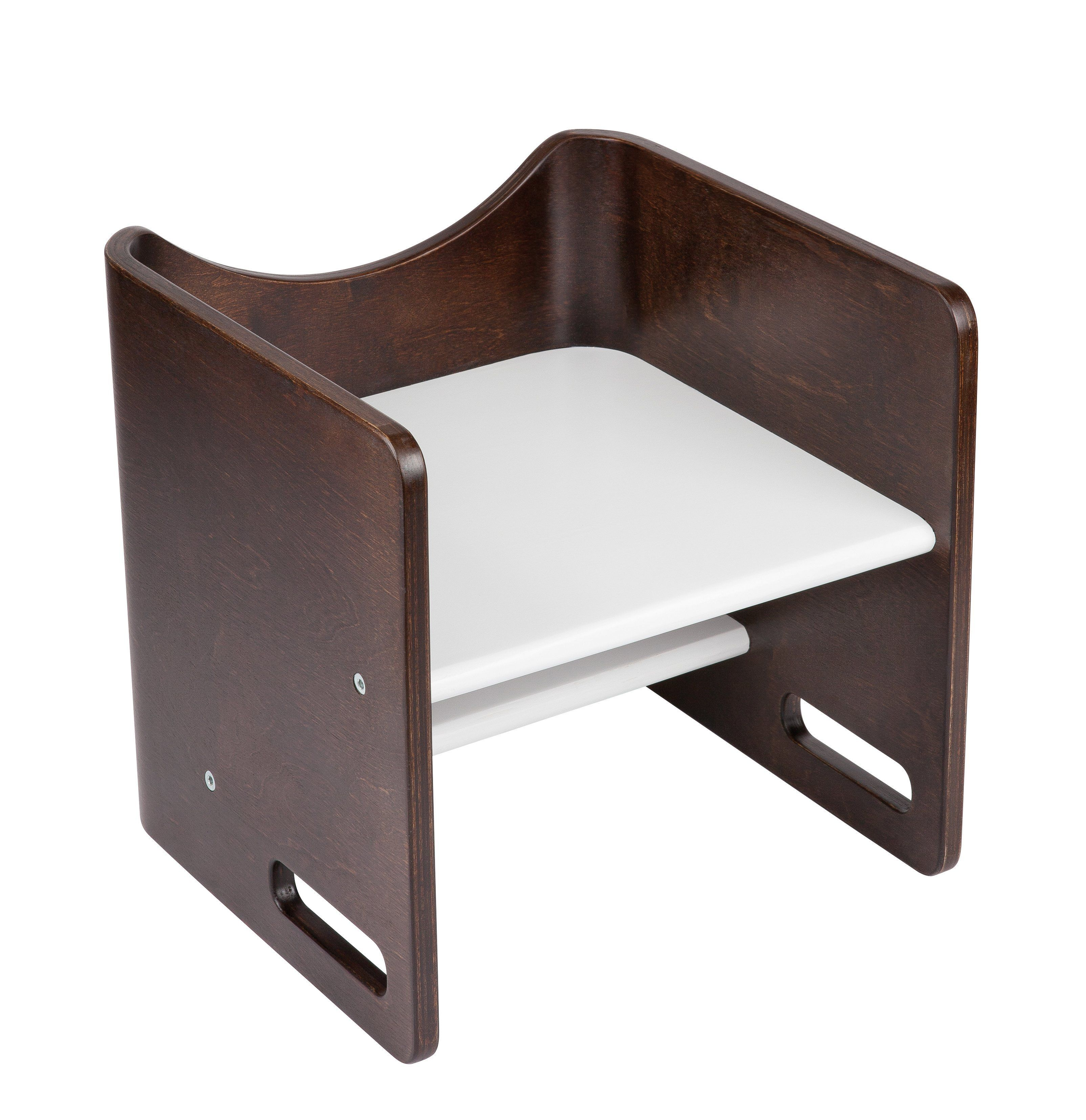Enjoyable Wooden Step Stool That Converts Into A Wooden Booster And Pabps2019 Chair Design Images Pabps2019Com
