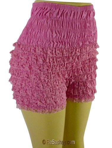 NEW POLY-COTTON RUFFLED LACE SISSY PETTIPANT BLOOMERS MALCO MODES N29 COSTUME