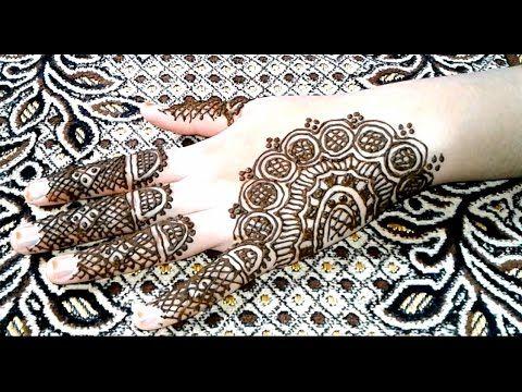 تعليم النقش بالحناء النقش الصحراوي بالحناء محاولتي الثانية هذه محاولتي الثانية مع النقش الصحراوي نقش غني بالاشك Henna Patterns Simple Mehndi Designs Hand Henna
