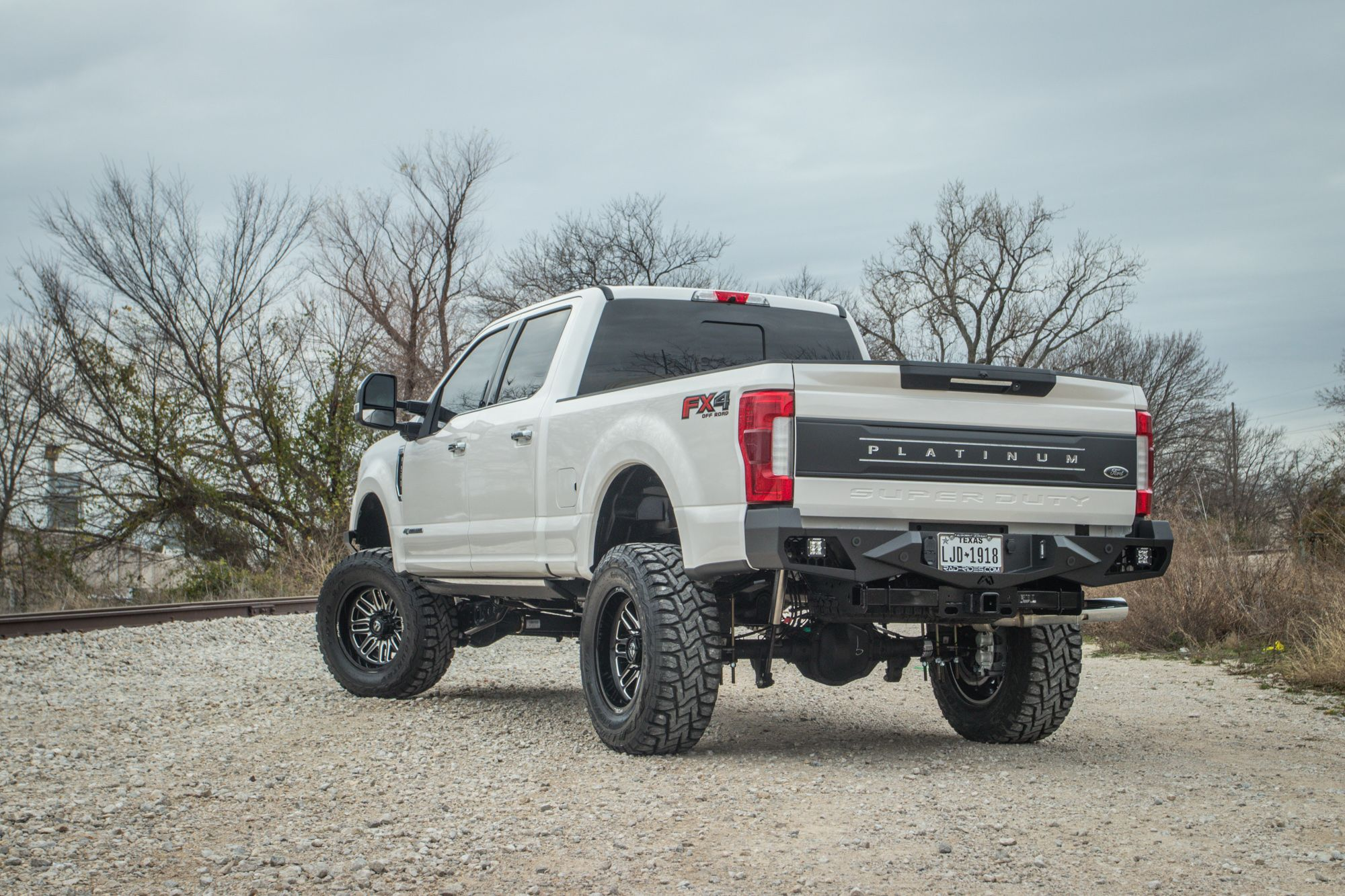 ford f250 platinum with 6 inch fabtech lift kit and fab