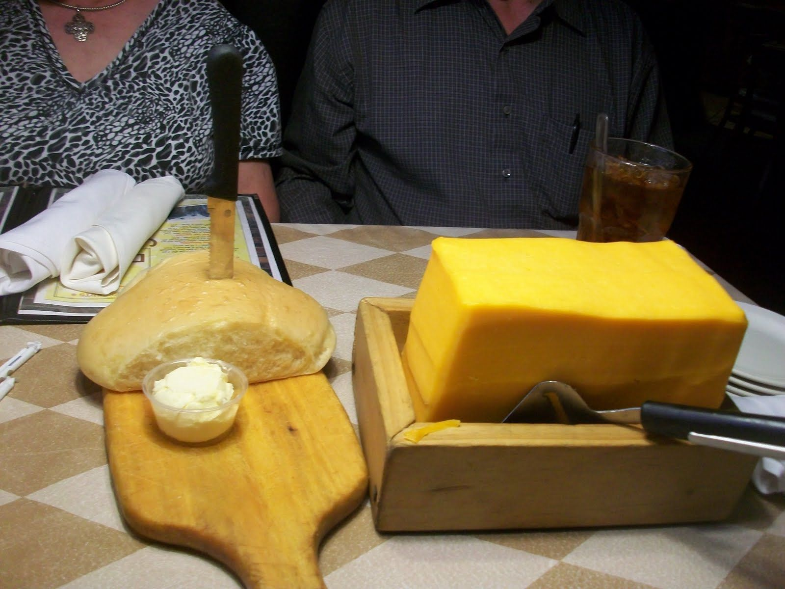 Bread and Cheese at the Barn Door in Odessa, Texas Yum    *This pic