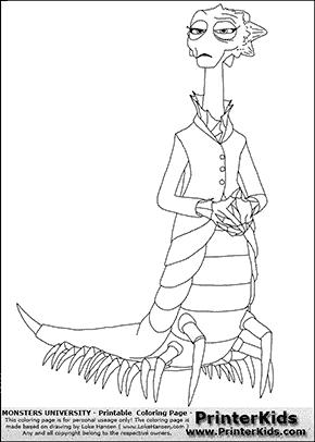 Monsters University - Dean Hardscrabble #1 - Coloring Page Coloring Pages Pinterest Dean ...