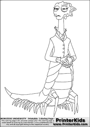 Monsters University Dean Hardscrabble 1 Coloring Page