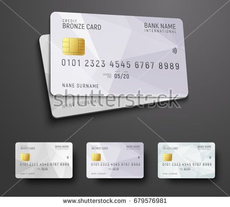 Templates For Design Of A Credit Debit Bank Card With A White Polygonal Abstract Background Vector I Debit Card Design Credit Card Design Credit Card Online
