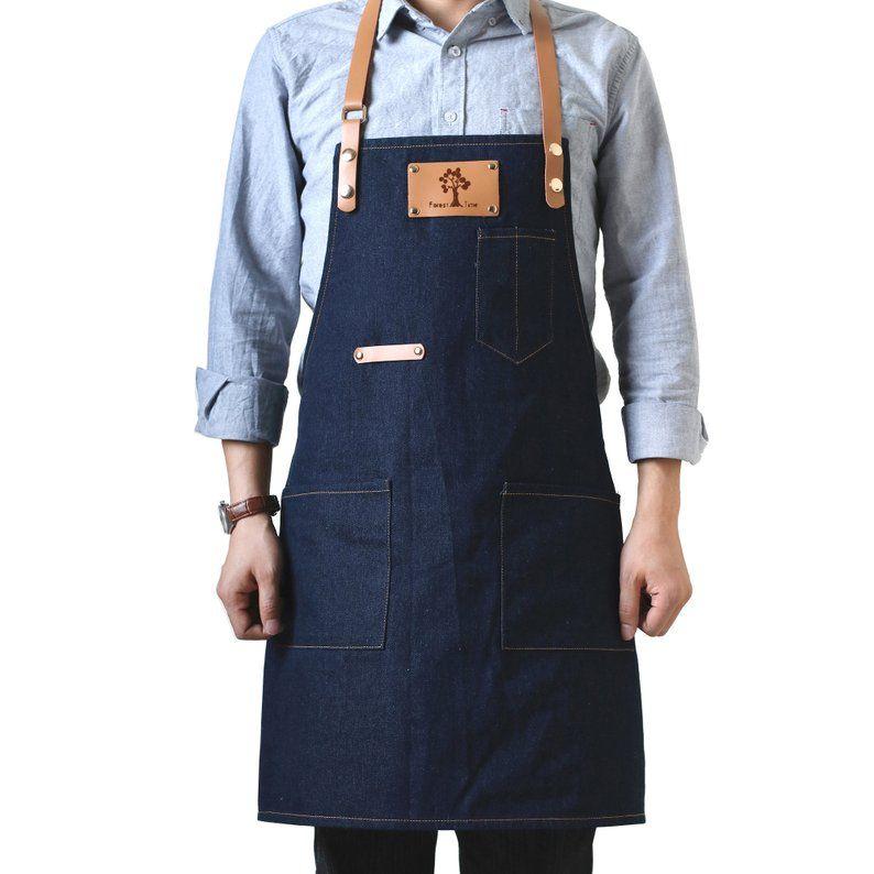 Large 2 pocket apron Navy Blue                        Free Personalization!!!!!!