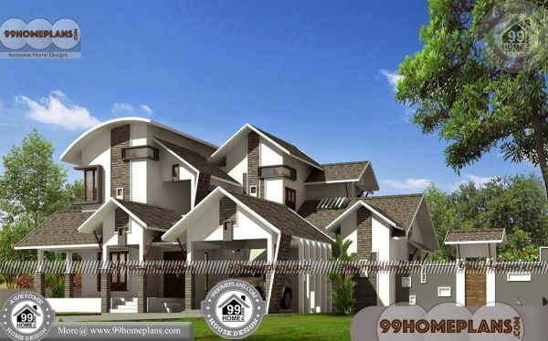 Kerala contemporary style house plans small story design also rh pinterest