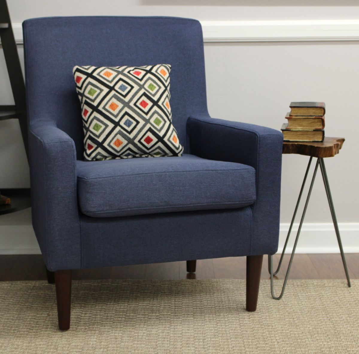 An Accent In Navy Furniture Chair Armchair #navy #living #room #chair