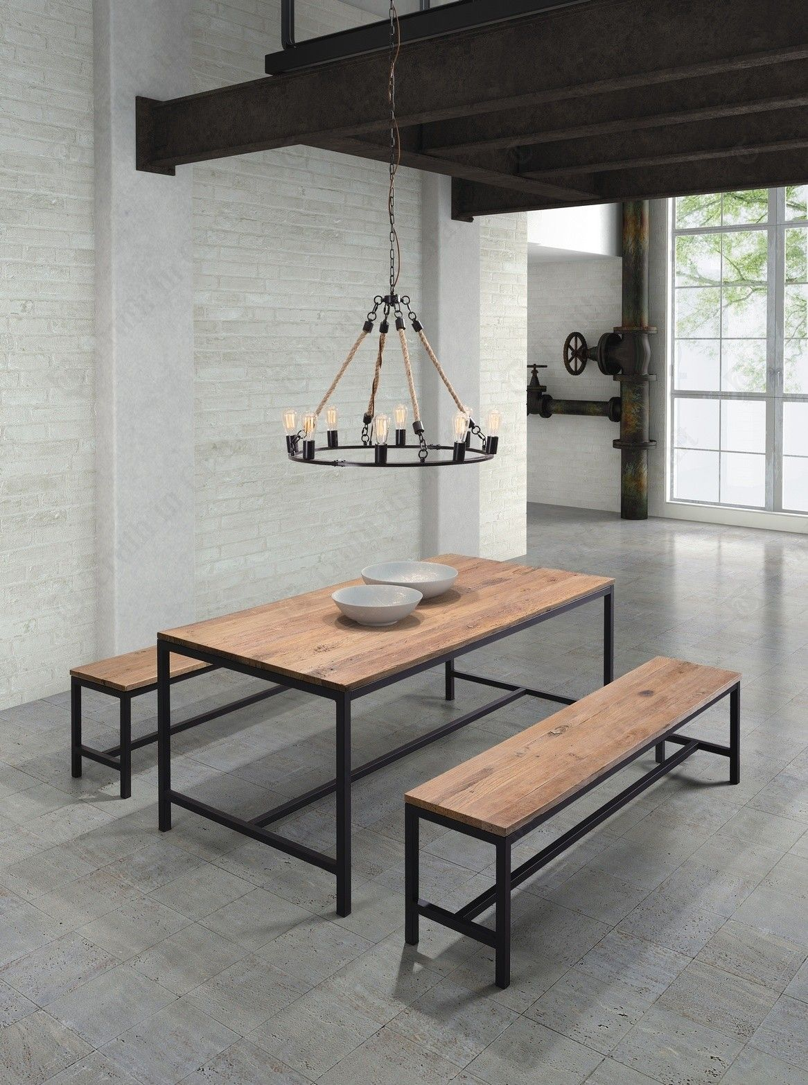 Dining Room Delightful Furniture For Vintage Dining  Room Design Using Round Black Metal Candle Chandelier Over Dining Table Including Rectangular Rustic   .